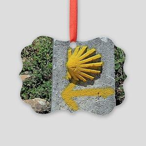 El Camino de Santiago de Composte Picture Ornament