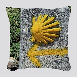 El Camino de Santiago de Compo Woven Throw Pillow