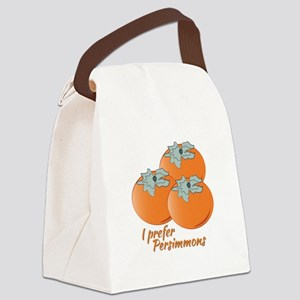I Prefer Persimmons Canvas Lunch Bag