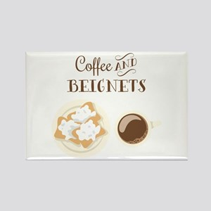 Coffee and Beignets Magnets