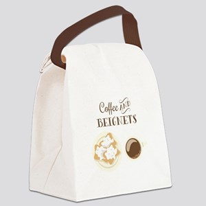 Coffee and Beignets Canvas Lunch Bag
