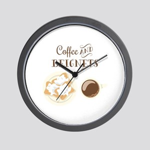 Coffee and Beignets Wall Clock