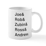 Joe&Rob&Zubin&Ross&Andrew (black) Mugs