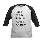 Joe&Rob&Zubin&Ross&Andrew (black) Baseball Jersey