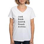Joe&Rob&Zubin&Ross&Andrew (black) T-Shirt