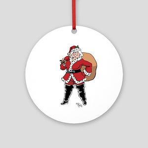 Mamma Claus Ornament (round)