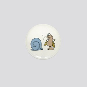 Hermit Crab Out of His Shell Mini Button