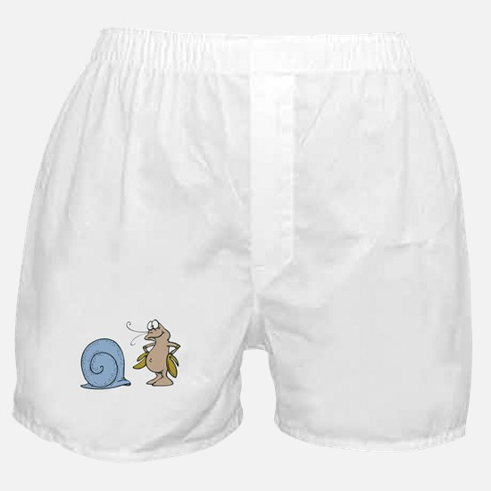 Hermit Crab Out of His Shell Boxer Shorts