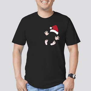 Santas Little Surprise Baby Hands and Feet T-Shirt