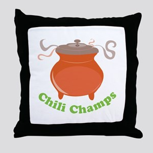 Chili Champs Throw Pillow