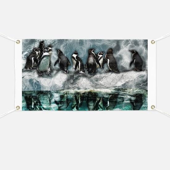 Penguins on ice Banner