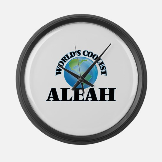 World's Coolest Aleah Large Wall Clock