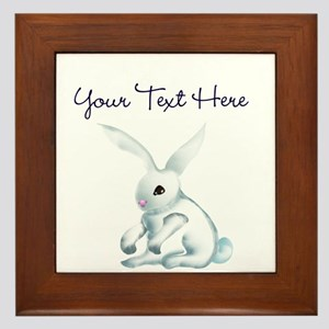 Your Text Here Honey Bunny Framed Tile