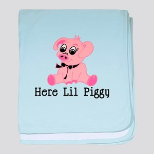 Here Lil Piggy baby blanket