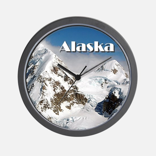 Alaska Range mountains, Alaska, USA (ca Wall Clock
