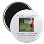 Prevent Lawn Mower Accidents Magnet Magnets