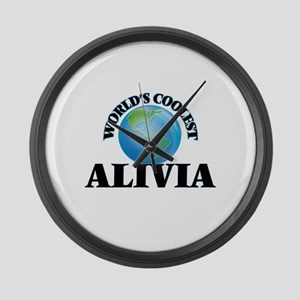 World's Coolest Alivia Large Wall Clock