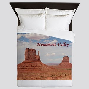 Monument Valley (caption) Queen Duvet