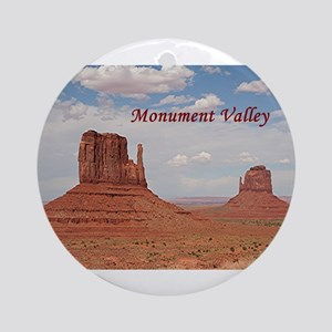 Monument Valley (caption) Ornament (Round)