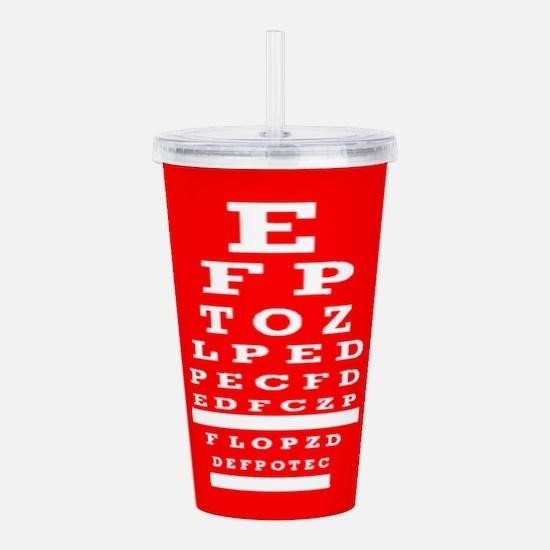 Eye Chart Opthalmology Acrylic Double-wall Tumbler