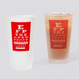 Eye Chart Opthalmology Drinking Glass