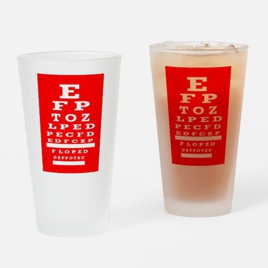 Eye Chart Opthalmology Drinking Glass