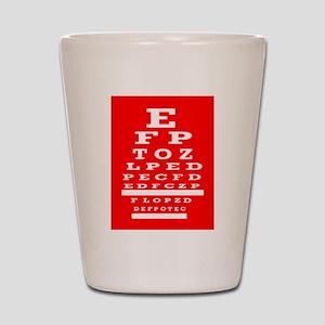 Eye Chart Opthalmology Shot Glass