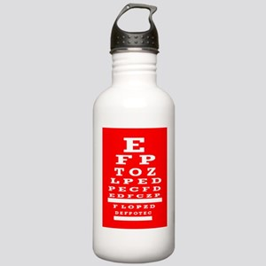 Eye Chart Opthalmology Water Bottle
