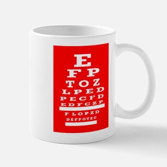 Eye Chart Opthalmology Mugs