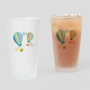 Hot Air Balloons Drinking Glass