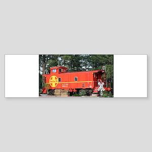 Santa Fe Railway Train Caboose, Wil Bumper Sticker