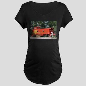 Santa Fe Railway Train Caboose, Maternity T-Shirt