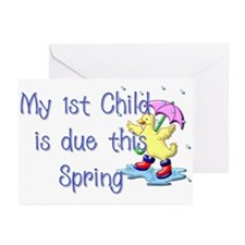 Duck - 1st Child Greeting Cards (Pk of 10)
