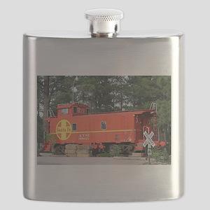 Santa Fe Railway Train Caboose, Williams, Ar Flask