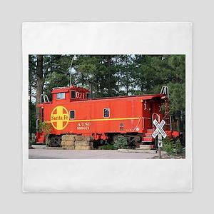Santa Fe Railway Train Caboose, Willia Queen Duvet