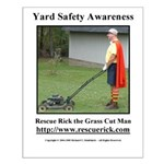 Yard Safety Awareness Small Poster