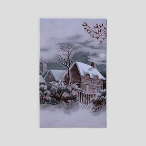 Christmas Winter Scene Area Rug