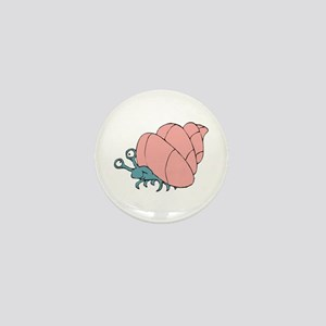 Cute Little Hermit Crab Mini Button