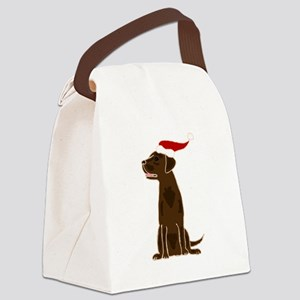Christmas Chocolate Labrador Canvas Lunch Bag