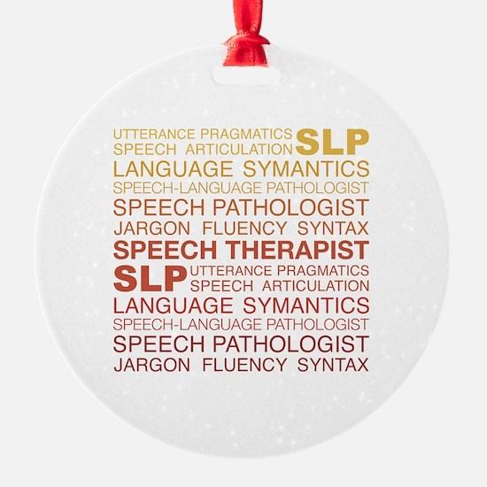 Speech Therapist Word Cloud Ornament