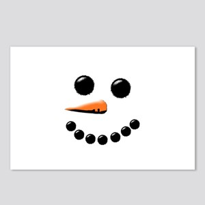 Happy Snowman Face Postcards (Package of 8)