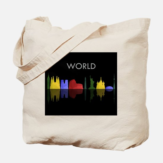 skyline world Tote Bag