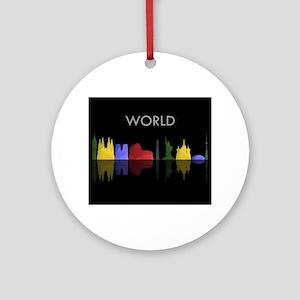 skyline world Round Ornament