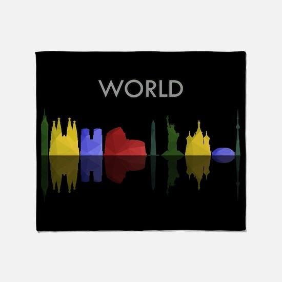 skyline world Throw Blanket