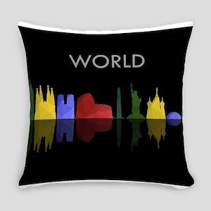 skyline world Everyday Pillow