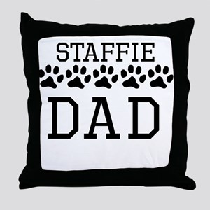 Staffie Dad Throw Pillow