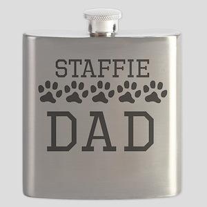 Staffie Dad Flask