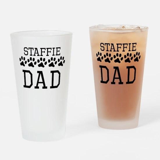 Staffie Dad Drinking Glass