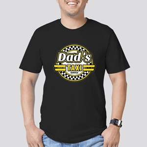 Dad's Taxi Service Men's Fitted T-Shirt (dark)