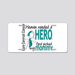 Cervical Cancer HeavenNeede Aluminum License Plate